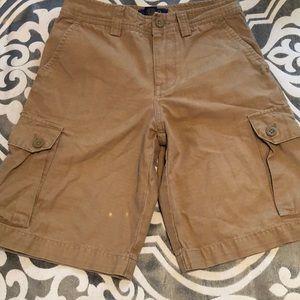 Polo brown cargo shorts for boys